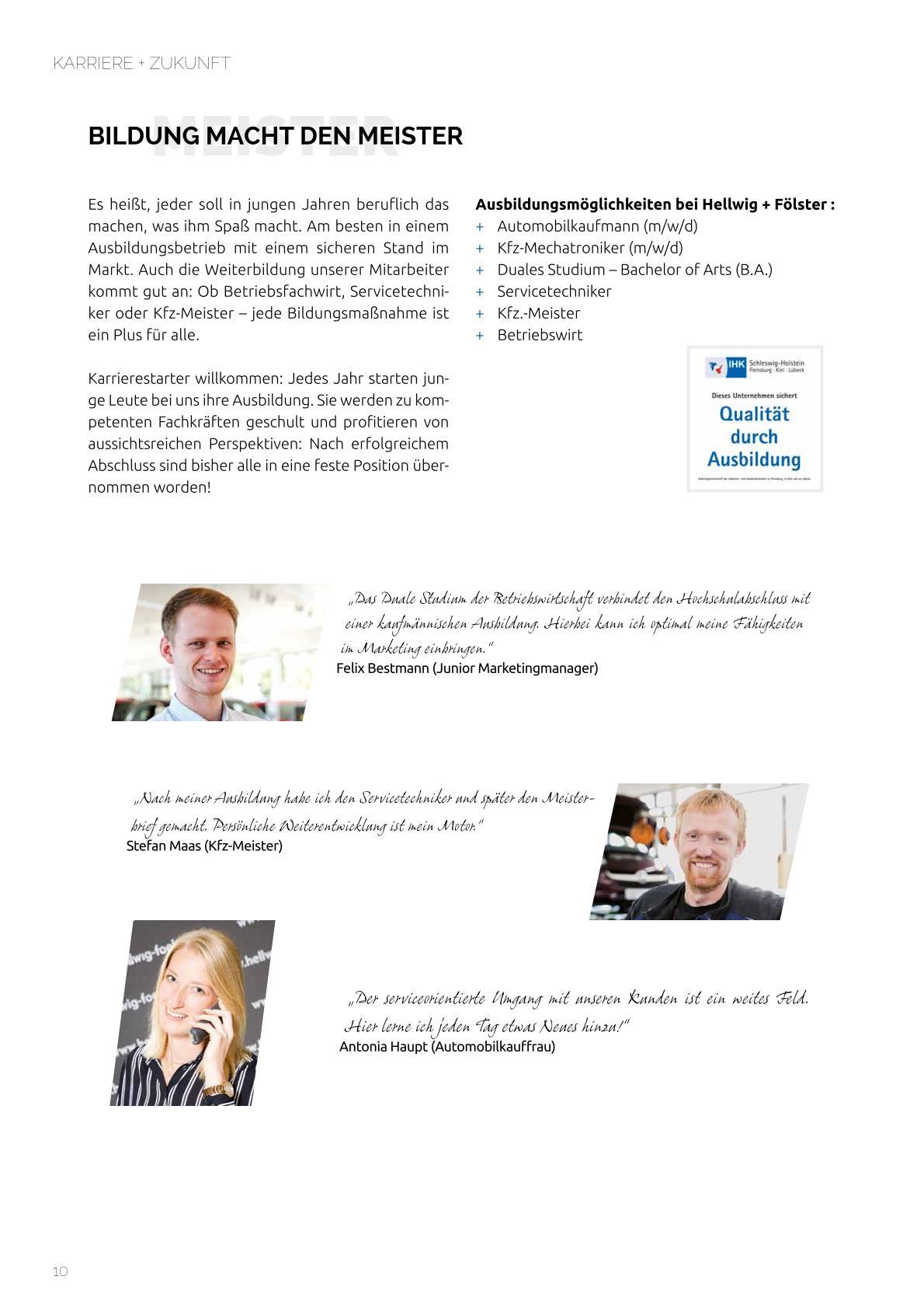 Firmenbroschüre Hellwig+Fölster