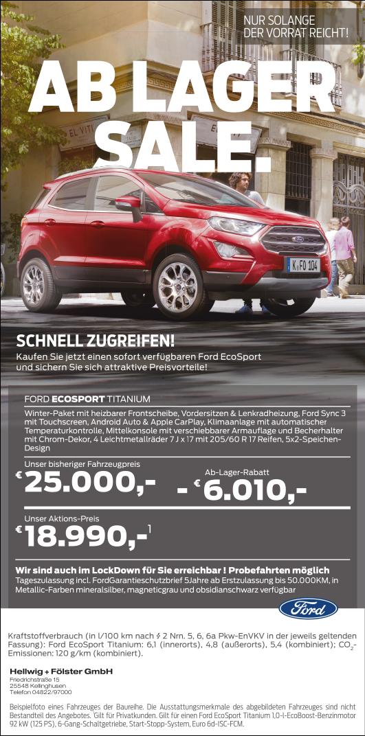 Lagerverkauf Ford EcoSport