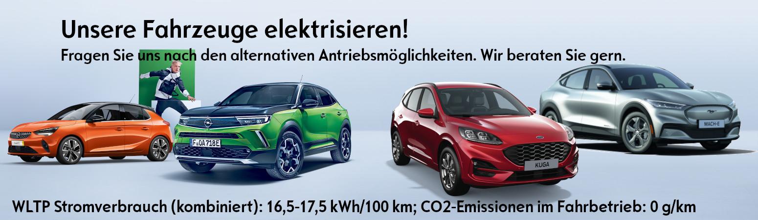 Elektromobilität Opel Ford